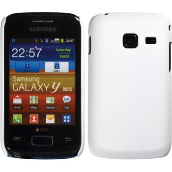 Hardcase for Samsung Galaxy Y Duos rubberized white