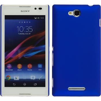 Hardcase for Sony Xperia C rubberized blue
