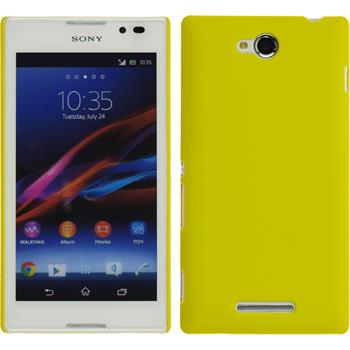 Hardcase for Sony Xperia C rubberized yellow