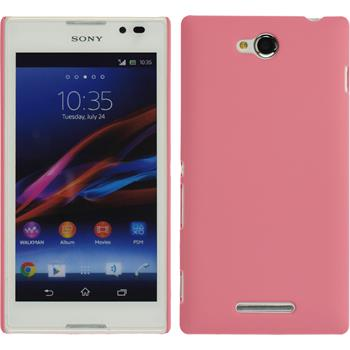 Hardcase for Sony Xperia C rubberized pink