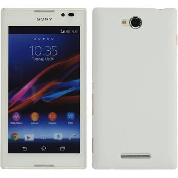 Hardcase for Sony Xperia C rubberized white