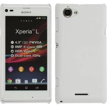 Hardcase for Sony Xperia L rubberized white
