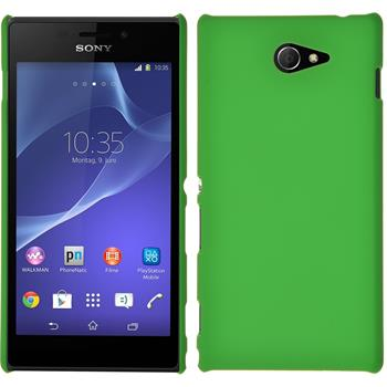 Hardcase for Sony Xperia M2 rubberized green