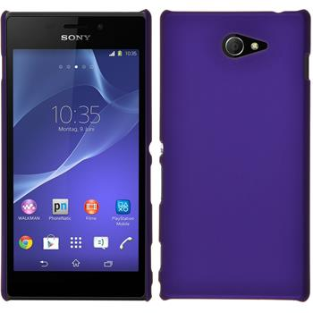 Hardcase for Sony Xperia M2 rubberized purple