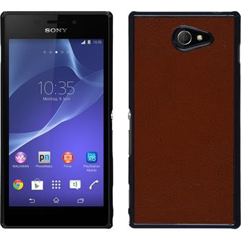 Hardcase for Sony Xperia M2 leather optics brown