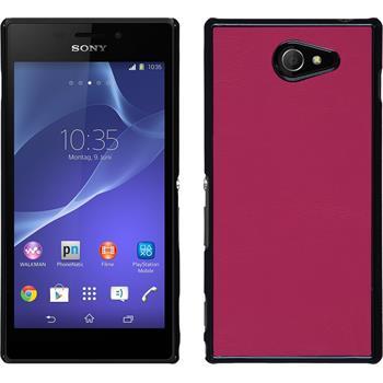 Hardcase für Sony Xperia M2 Lederoptik pink