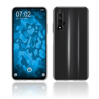 Silicone Case Honor 20 transparent Crystal Clear + protective foils