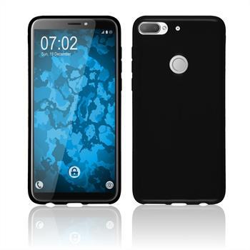 Silikon Hülle Desire 12 Plus  schwarz Case