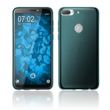 Silikon Hülle Desire 12 Plus transparent türkis Case