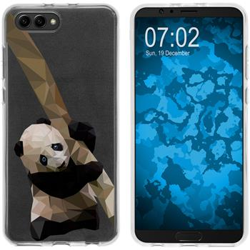 Huawei Honor View 10 Silicone Case vector animals Panda M4
