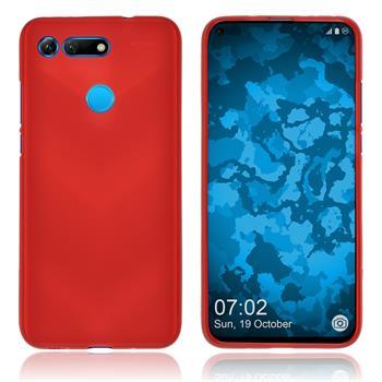Silicone Case Honor View 20 matt red Cover
