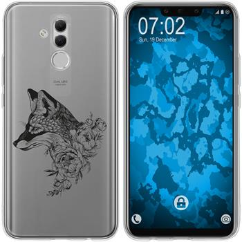 Huawei Mate 20 Lite Silicone Case floral Fox M1-1