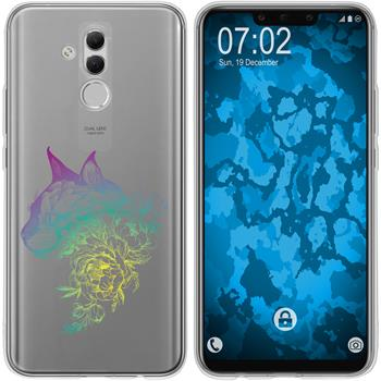 Huawei Mate 20 Lite Silicone Case floral M2-4