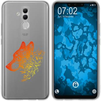 Huawei Mate 20 Lite Silicone Case floral M3-2