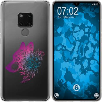 Huawei Mate 20 Silicone Case floral M3-6