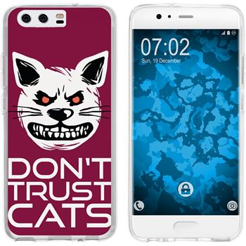 Huawei P10 Silicone Case Crazy Animals M1