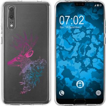 Huawei P20 Silicone Case floral M7-6