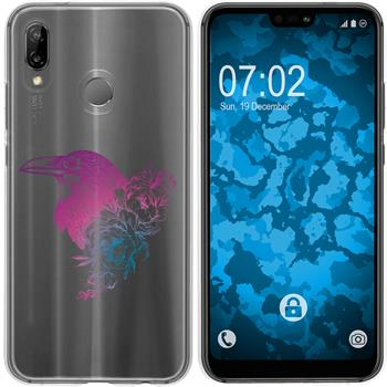 Huawei P20 Lite Silicone Case floral M4-6