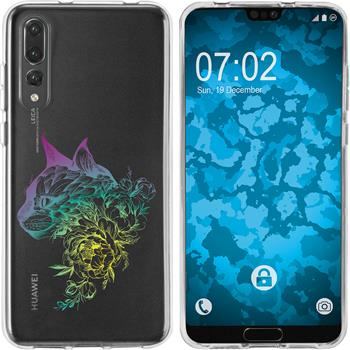 Huawei P20 Pro Silicone Case floral M2-4