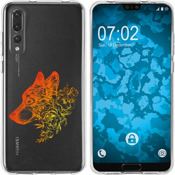 Huawei P20 Pro Silicone Case floral M3-2
