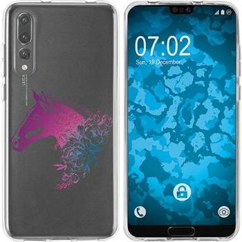 Huawei P20 Pro Silicone Case floral M5-6