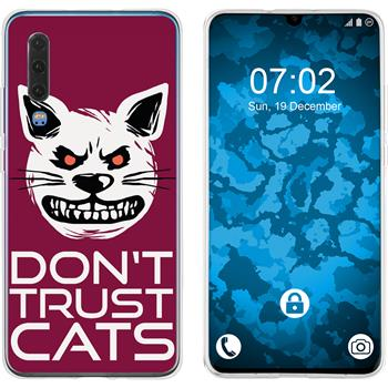 Huawei P30 Silicone Case Crazy Animals M1