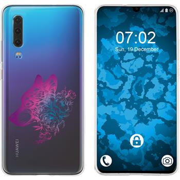 Huawei P30 Silicone Case floral M3-6