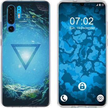 Huawei P30 Pro Silicone Case Element water M4