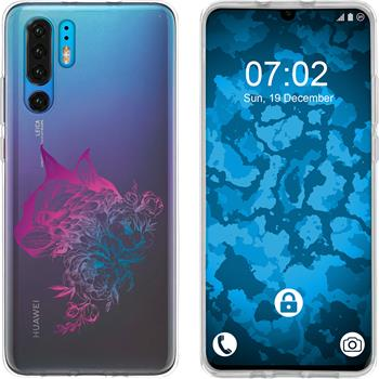 Huawei P30 Pro Silicone Case floral M2-6