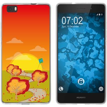 Huawei P8 Lite 2015 (1.Gen.) Silicone Case autumn M2