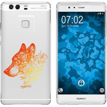 Huawei P9 Plus Silikon-Hülle Floral  M3-2
