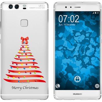 Huawei P9 Silicone Case Christmas X Mas M1