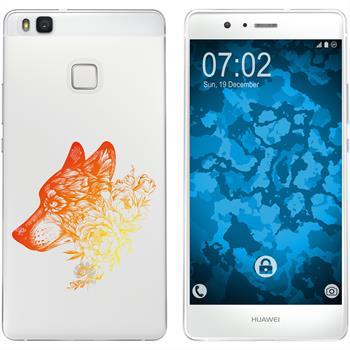 Huawei P9 Lite Silikon-Hülle Floral  M3-2