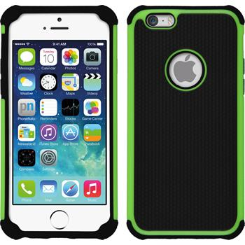 Hybrid Case for Apple iPhone 6 ShockProof Hexagon green