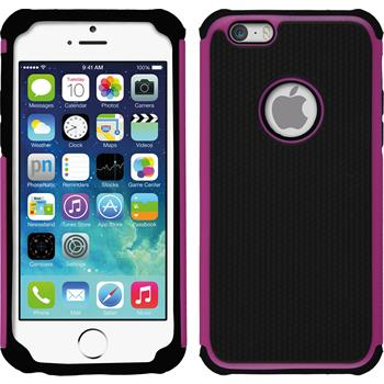 Hybrid Case for Apple iPhone 6 ShockProof Hexagon hot pink