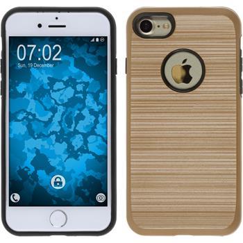 Hybrid Case for Apple iPhone 7 brushed Case gold