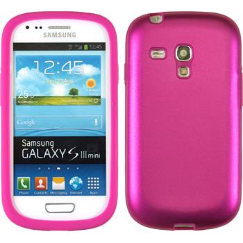 Hybrid Case for Samsung Galaxy S3 Mini  hot pink