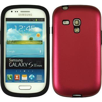 Hybrid Hülle Galaxy S3 Mini  rot