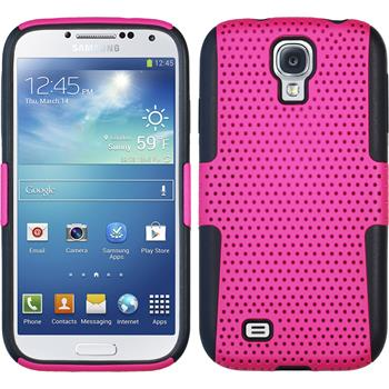 Hybrid Case for Samsung Galaxy S4  hot pink