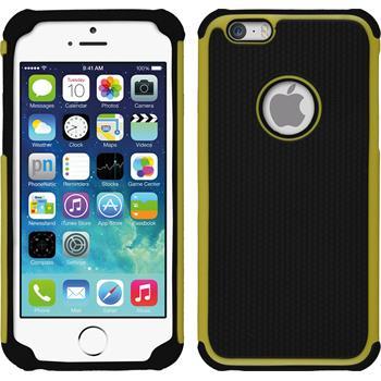 Hybrid Hülle iPhone 6s / 6 ShockProof Hexagon gelb