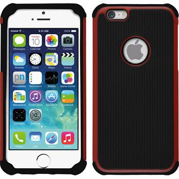 Hybrid Hülle iPhone 6s / 6 ShockProof Hexagon rot