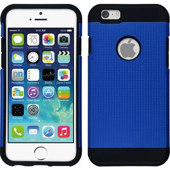 Hybrid Hülle iPhone 6s / 6 ShockProof Holes blau