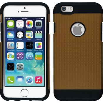 Hybridhülle für Apple iPhone 6s / 6 ShockProof Holes orange