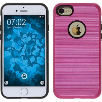 Hybrid Hülle iPhone 7 brushed Case pink