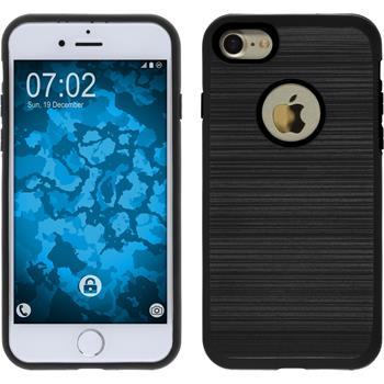 Hybrid Hülle iPhone 7 brushed Case schwarz