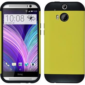 Hybridhülle für HTC One M8  gelb