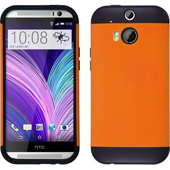 Hybridhülle für HTC One M8  orange