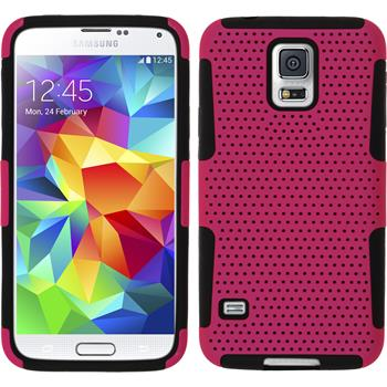 Hybrid Case for Samsung Galaxy S5  hot pink
