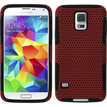 Hybrid Case for Samsung Galaxy S5  red