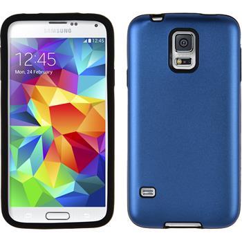 Hybrid Hülle Galaxy S5 Metallic blau